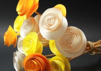 ramo flores papel